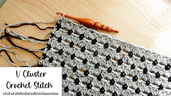 V Cluster Crochet Stitch - Free Crochet Stitch Pattern and Tutorial