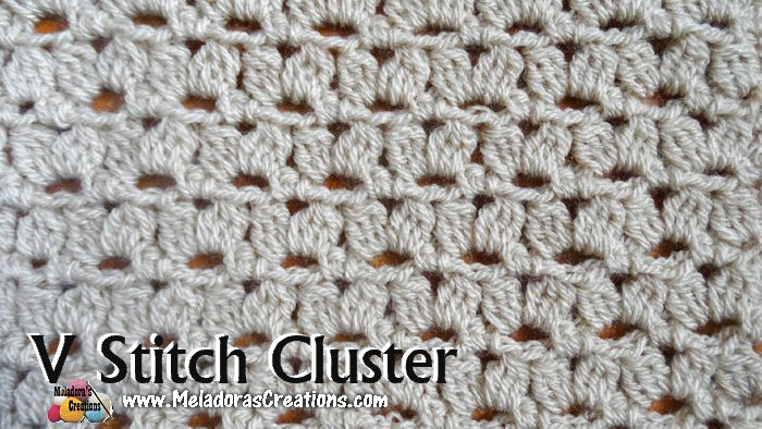 Cluster V Crochet Stitch Free Crochet Pattern And Tutorial