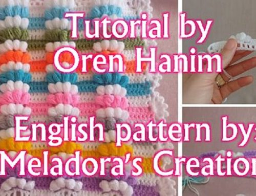 All your puff stitches in a row – Free crochet pattern