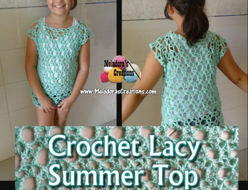 Crochet Lacy Summer Top – Free Crochet pattern