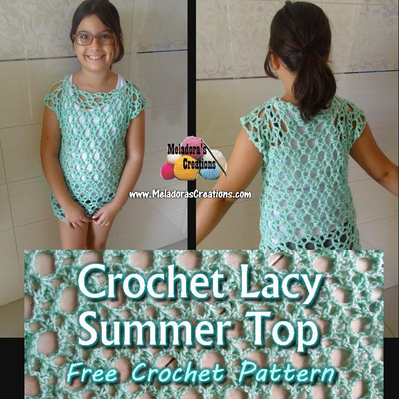 Crochet Lacy Summer Top Free Crochet Pattern Meladoras Creations