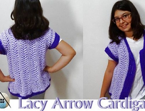 Lacy Arrow Cardigan – Free Crochet Pattern