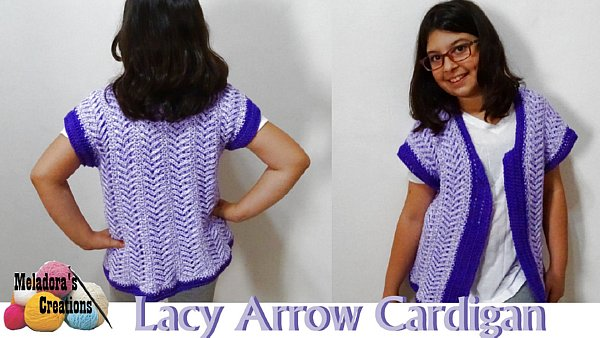 b2196f66077b Lacy Arrow Cardigan – Free Crochet Pattern - Meladora s Creations