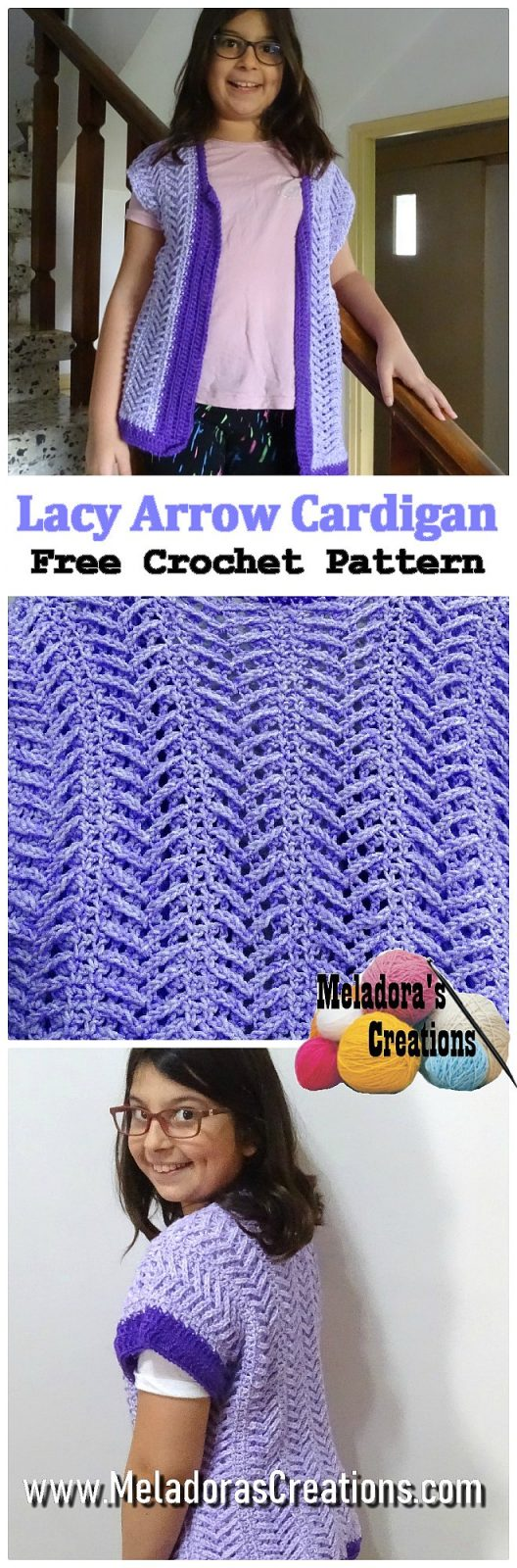 Lacy Arrow Cardigan – Free Crochet Pattern