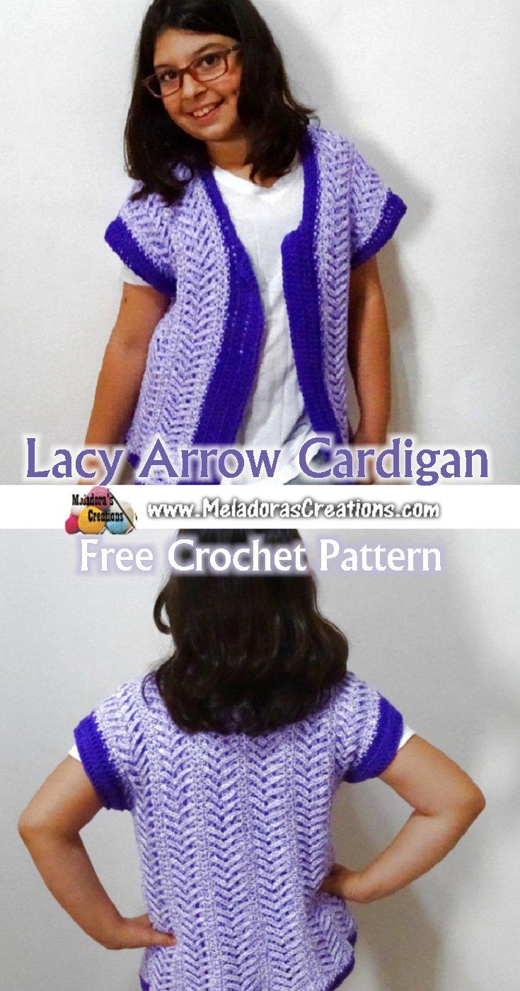 Lacy Arrow Cardigan Pinterest Meladoras Creations