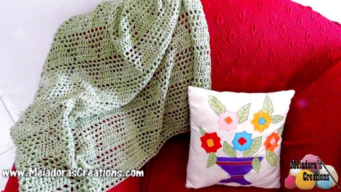 Diamond Lace Afghan Free Crochet Pattern And Tutorial Meladoras