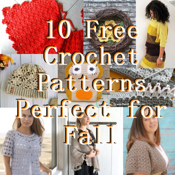 10 Free Crochet Fall Patterns - Link Blast Oct 2018