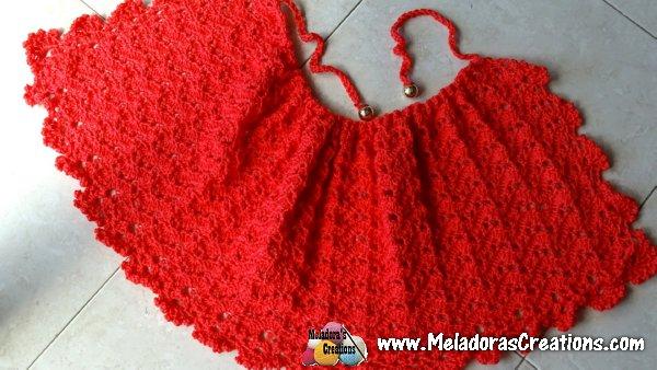 Lacy Ripple Child Cape Free Crochet Pattern Meladoras Creations