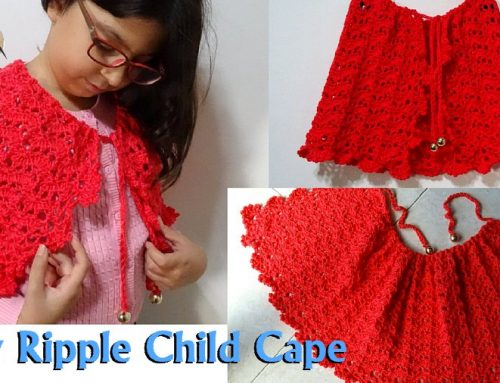 Lacy Ripple Child Cape – Free Crochet pattern