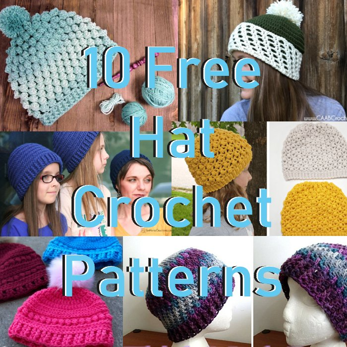 10 Free Crochet Hat Patterns 2018 Meladoras Creations