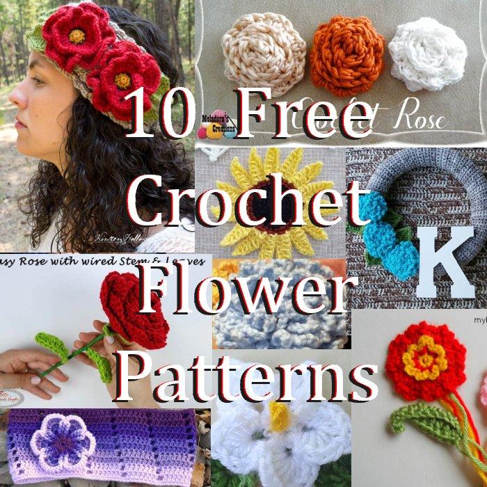 10 Free Crochet Flower Patterns 2018 Meladoras Creations