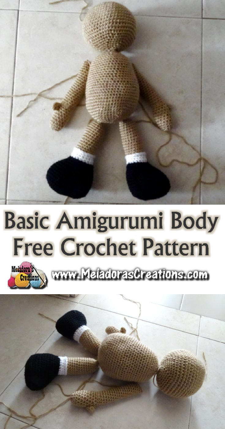 Amigurumi Doll Body Pattern, Crochet Mini Amigurumi Doll, Little ... | 1400x735