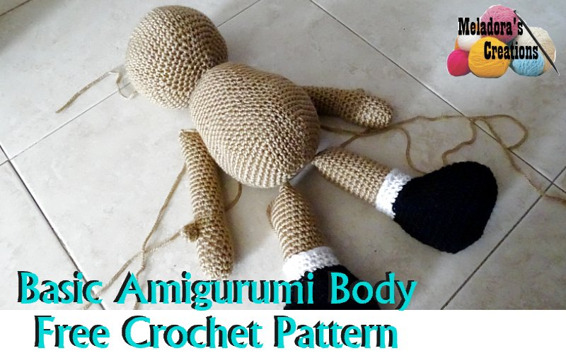 Amigurumi Doll Body Pattern, Crochet Mini Amigurumi Doll, Little ... | 500x800