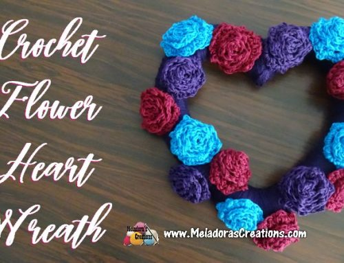 Crochet Flower Heart Wreath – Free Crochet pattern