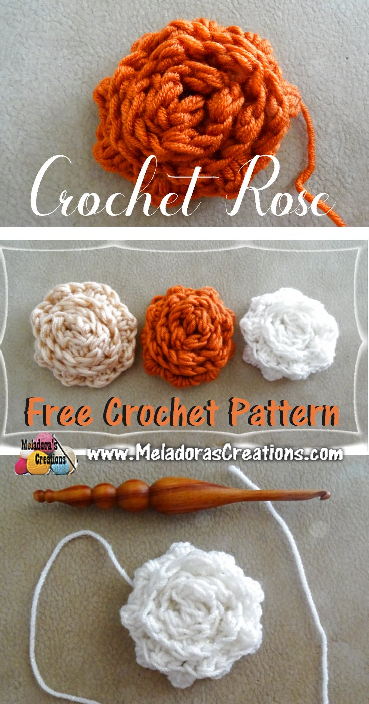 Free Crochet Rose Pattern Simple Decorating Design