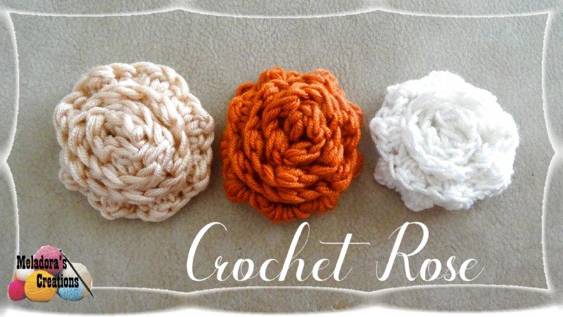 Crochet Rose Free Crochet Pattern Meladoras Creations