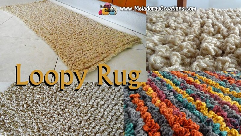 Loopy Rug Free Crochet Pattern And Tutorial Meladoras Creations