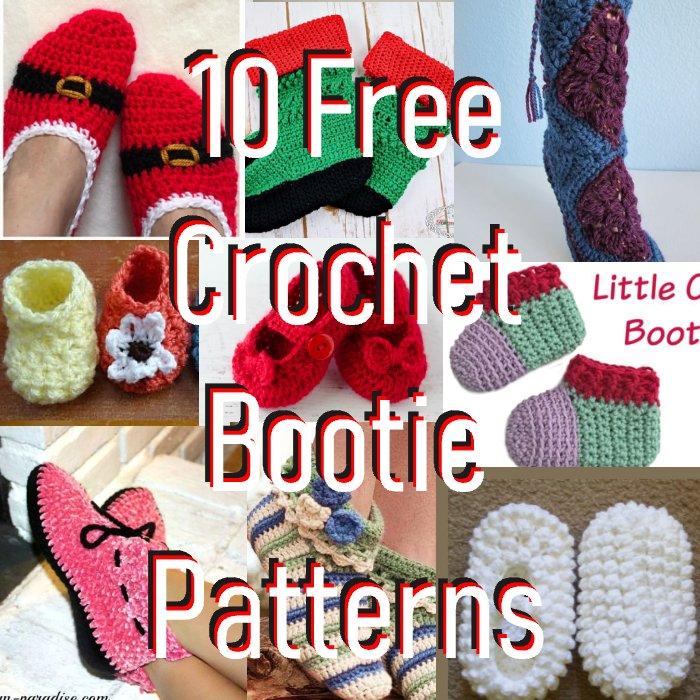 10 Free Crochet Bootie Patterns - Link Blast