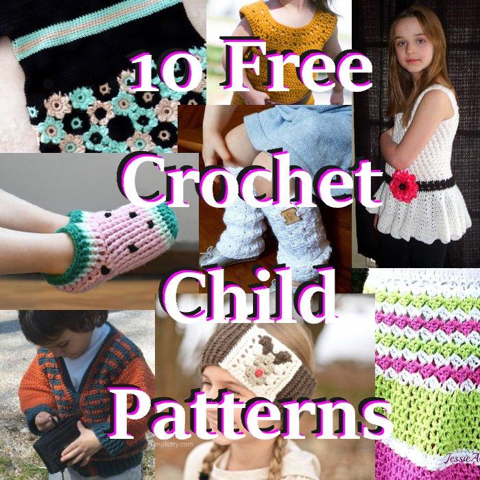 10 Free Crochet Child Size Patterns - Link Blast