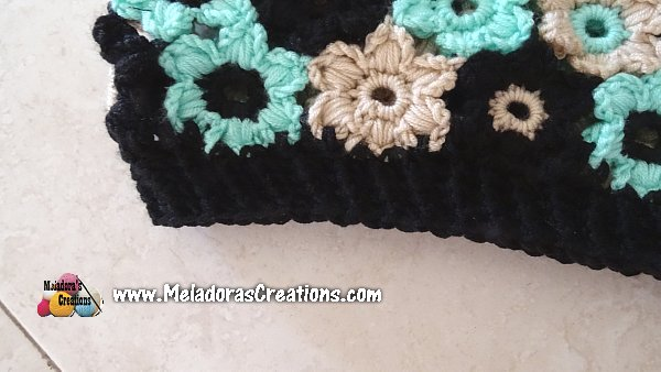 Flower Sweater Crochet CAL - PART THREE - Neckline, Arm Holes and Bottom of sweater