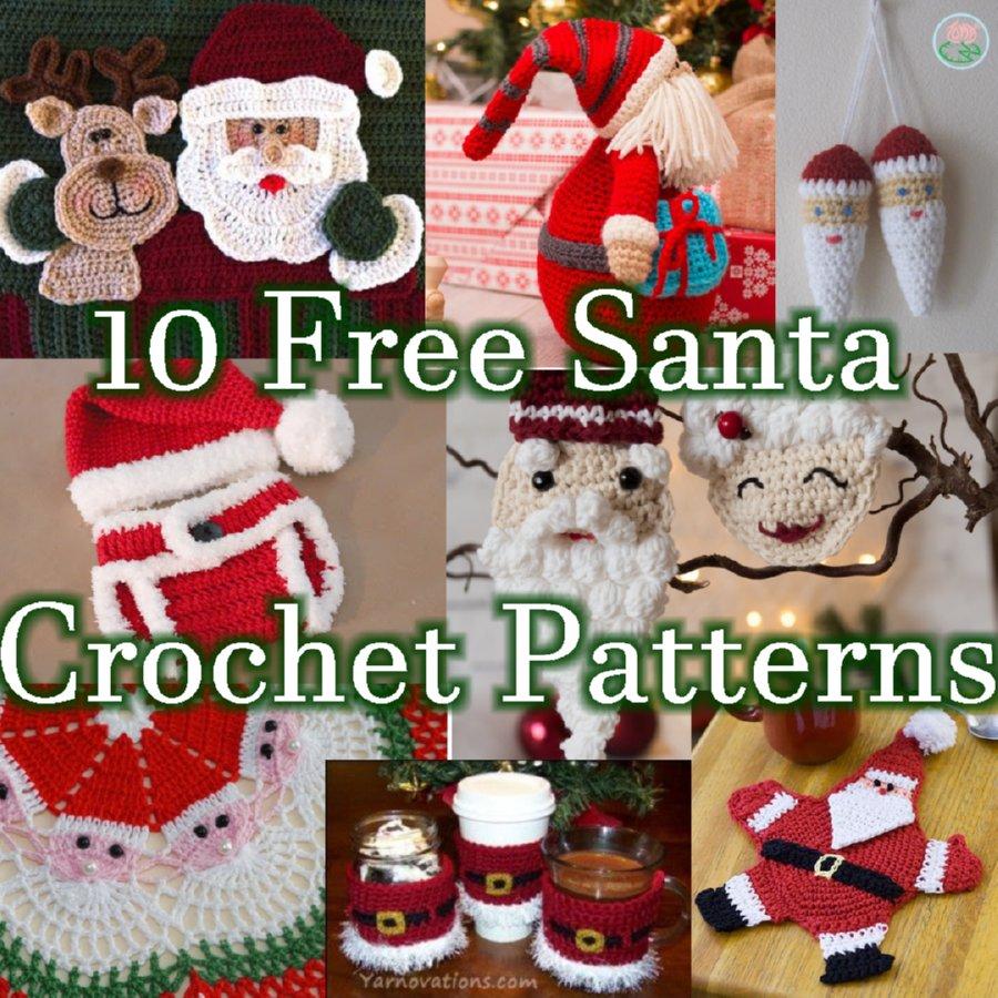 10 Free Santa Crochet Patterns - Christmas Link Blast