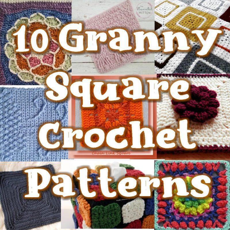 10 Free Granny Square Crochet Patterns Link Blast Round Up