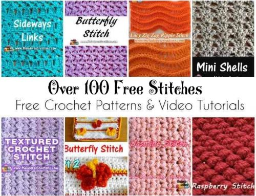 Over 100 Crochet Stitch Tutorials