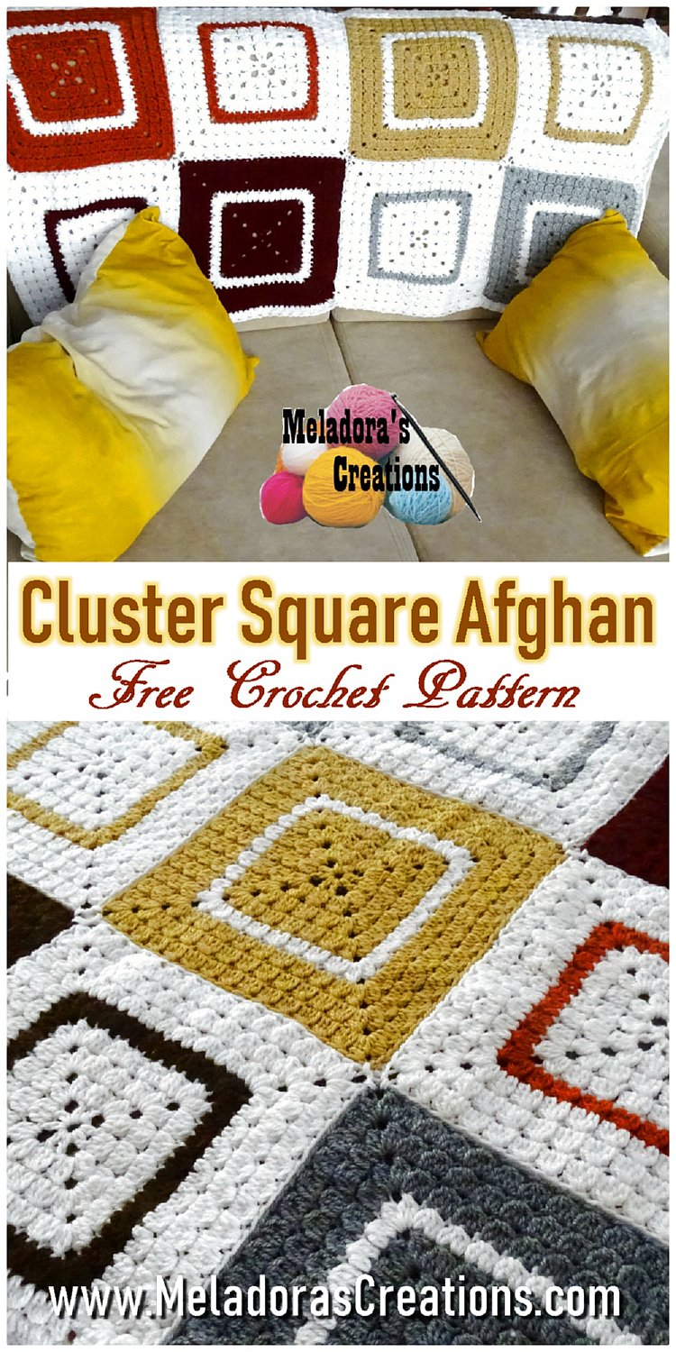 Cluster Granny Square Afghan - Free Crochet Pattern and Video Tutorial