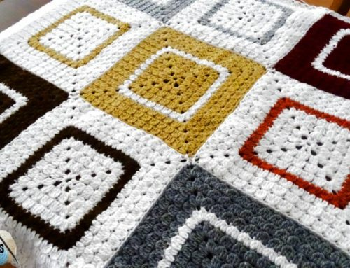 Cluster Granny Square Afghan – Free Crochet Pattern and Video Tutorial