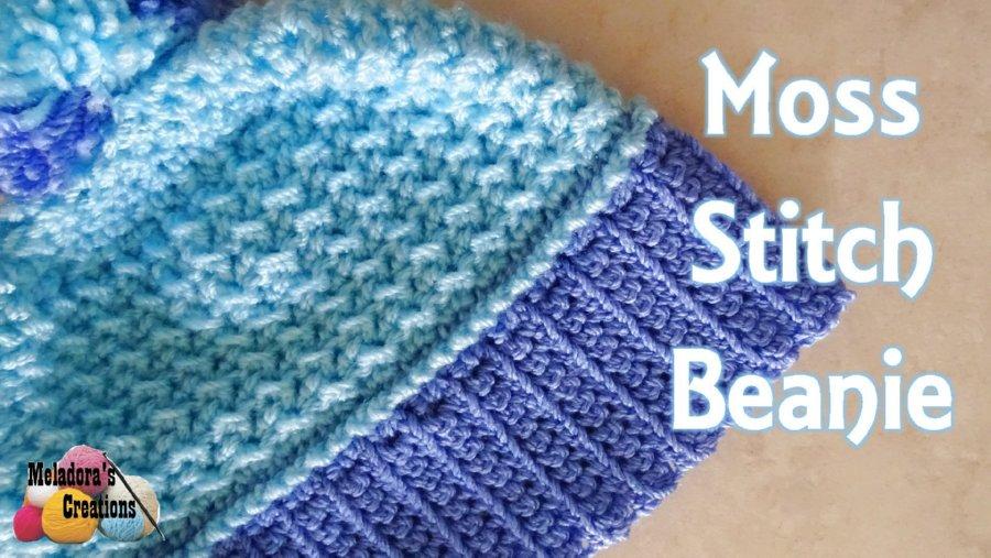 Moss Stitch Free Crochet Beanie Pattern