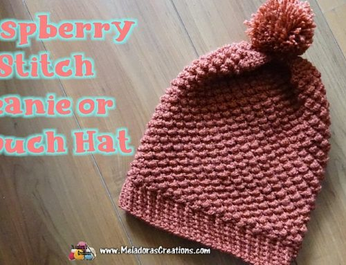 Raspberry Stitch Slouch Hat Refurbished – Crochet Pattern and Tutorial