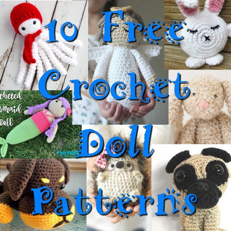 10 Free Doll Crochet Patterns Crochet Link Blast Pattern Round Up