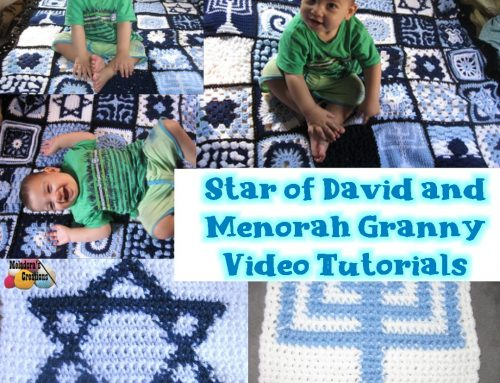 Star of David and Menorah Crochet Tutorials – Crochet Granny Square