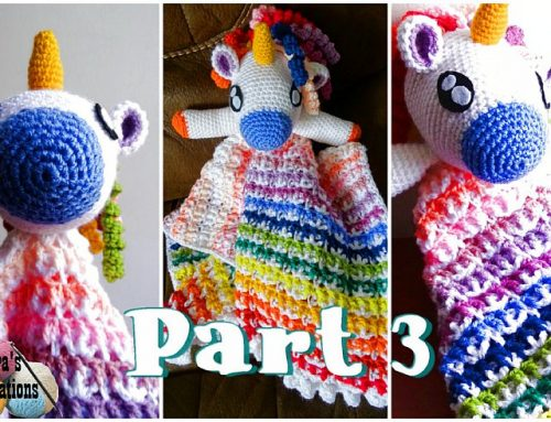 Crochet Unicorn Lovey Part 3 – Free Crochet pattern