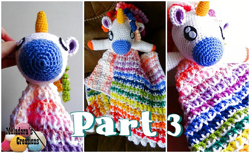 Crochet Unicorn Lovey Pattern