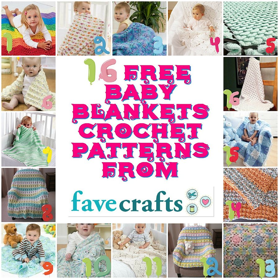 16 Free Baby Blankets Crochet Patterns from Favecrafts - Pattern Round up