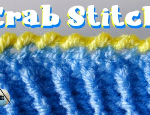 Crab Stitch or Reverse Single Crochet – Free Crochet tutorial