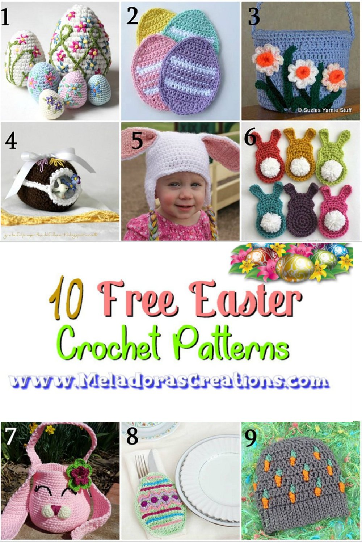 10 Free Easter Crochet Patterns - Crochet Pattern Round up Link Blast