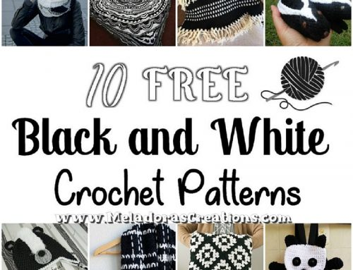 10 Black and White Free Crochet Patterns – Crochet Round Up Link Blast