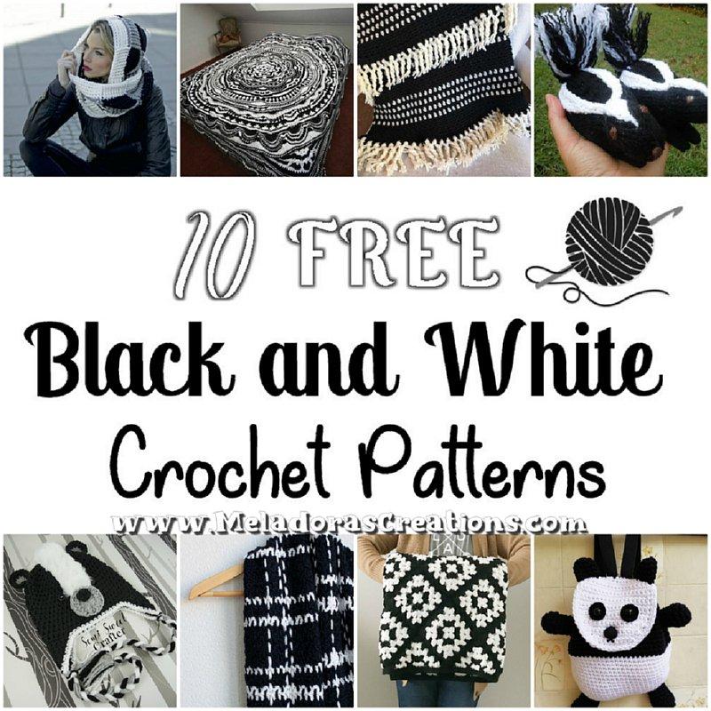 10 Black and White Free Crochet Patterns - Crochet Round Up Link Blast
