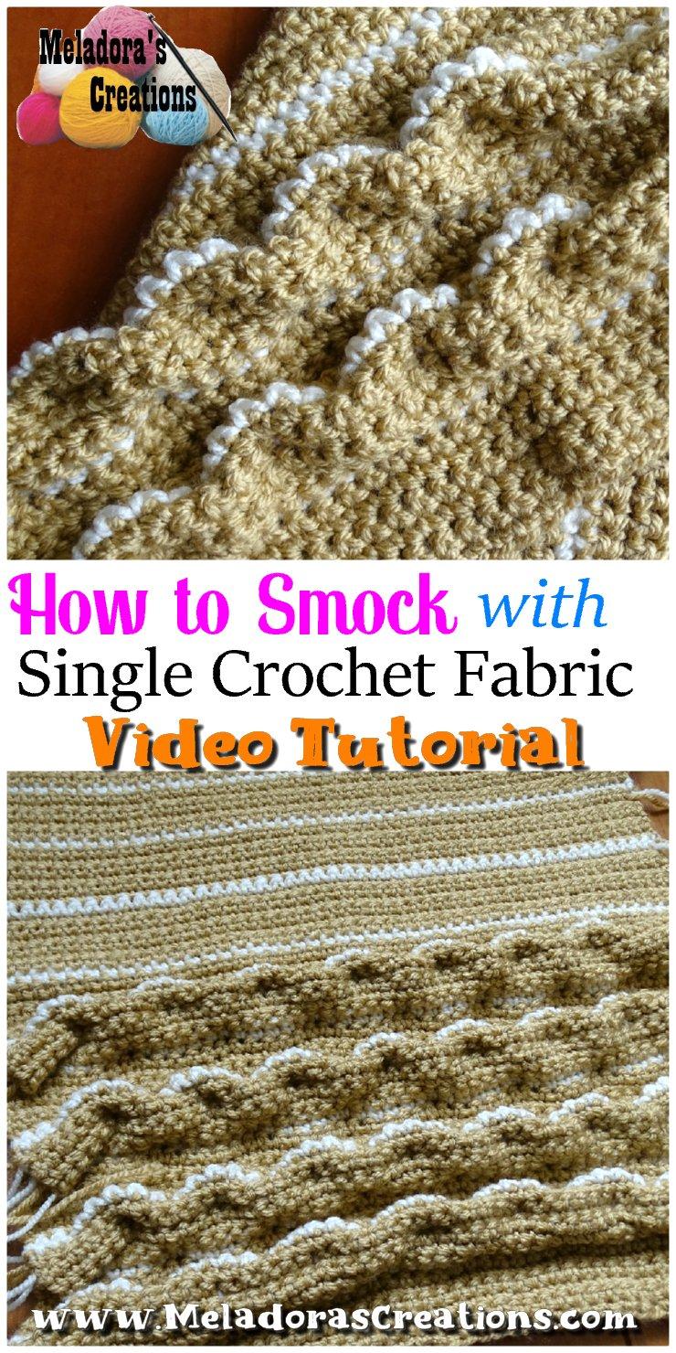 Crochet a Pillow Cover - Smocked Crochet Pillow Cover