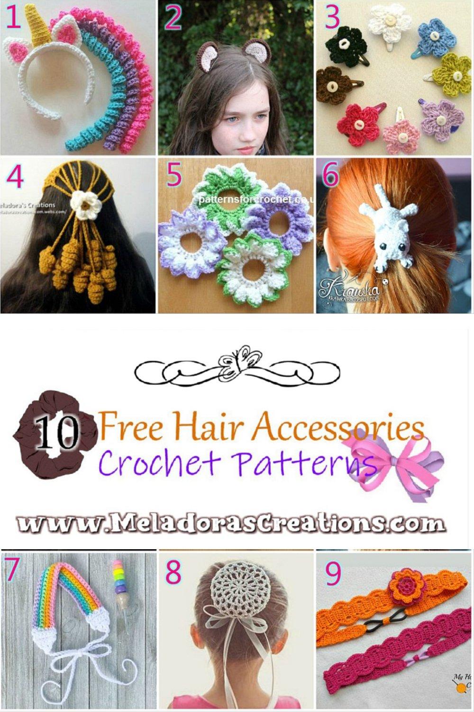 10 Crochet Hair Accessories Free Crochet Patterns - Crochet pattern Round up Link Blast