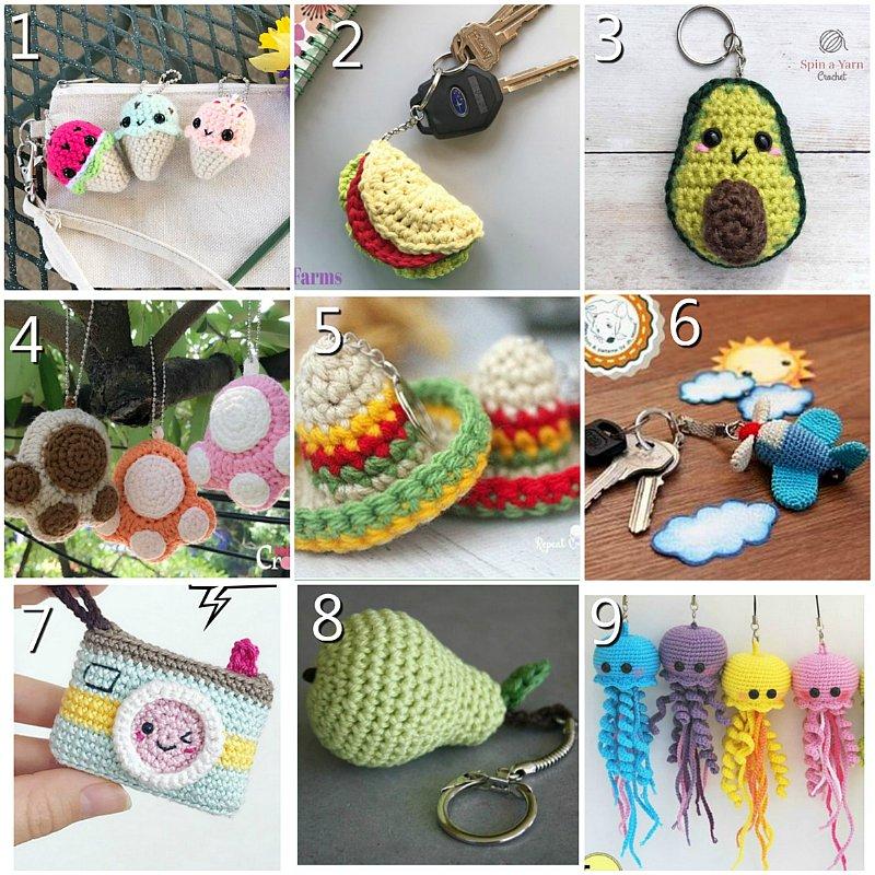 10 Free Key Chain Crochet Patterns - Crochet pattern Round up Link Blast