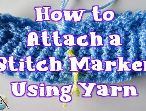 How to attach a Stitch Marker Using Yarn