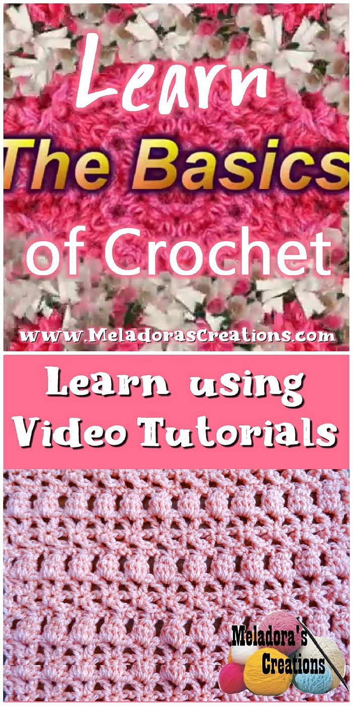 Learn how to crochet using crochet tutorials