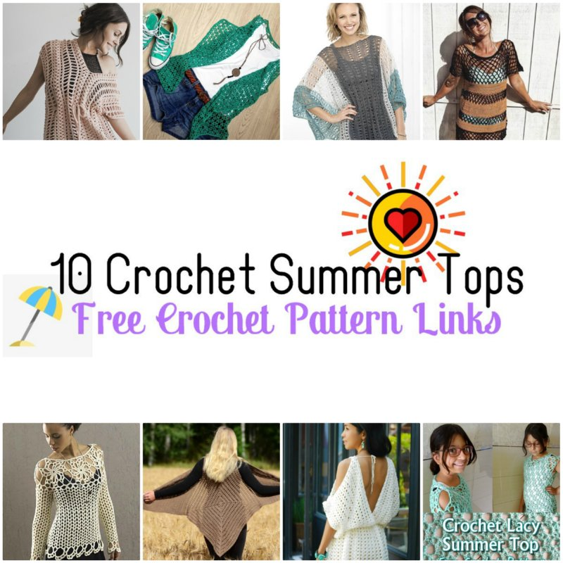 10 Crochet Summer Tops Free Crochet Pattern Links Meladoras