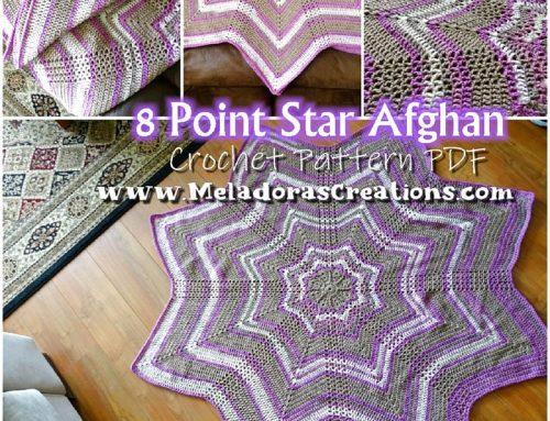8 point Star Afghan – Free Crochet Pattern