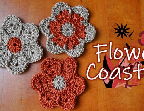 Crochet Flower Coaster – Free Crochet Pattern