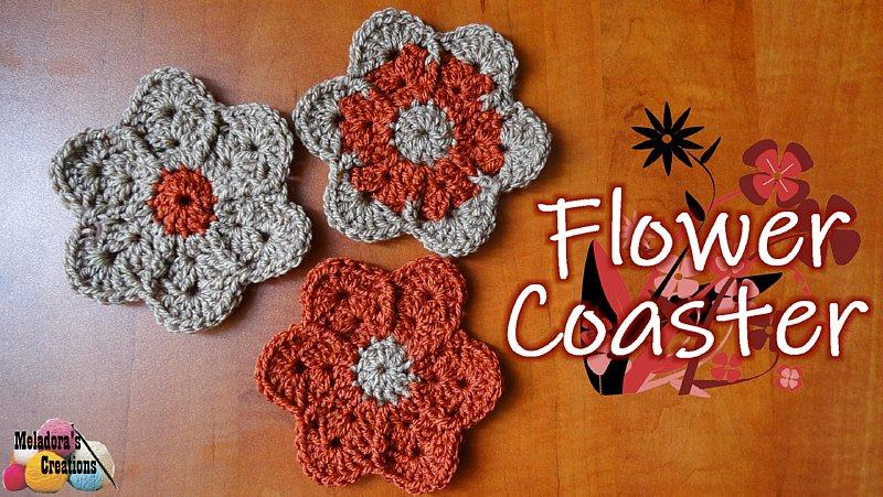 Crochet Flower Coaster - Free Crochet Pattern