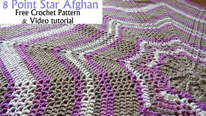 Crochet Star Afghan - 8 point Star Afghan – Free Crochet Pattern